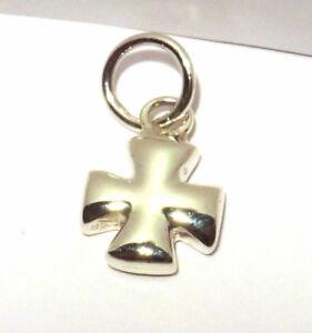 Kreuz Anhänger Eisernes Kreuz 925 Sterling Silber Biker Rocker Schmuck Neu