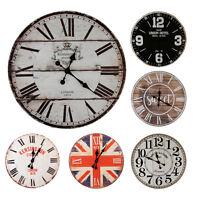 XXL Wanduhr Uhr Küchenuhr Zeitmesser Bürouhr schwarz weiß braun Shabby Vintage
