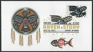RAVEN STORY ** FIRST DAY COVER ** JUNEAU, ALASKA  ** JULY 30, 2021