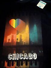 New Chicago Rainbow T Shirt Vintage Photo Gay Pride Wrigley Bldg 1930's Women S