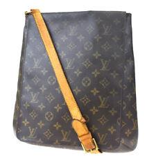 Auth LOUIS VUITTON Musette Shoulder Bag Monogram Leather Brown M51256 66MD377