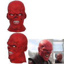 Captain America Red Skull Helmet Red Hood Cosplay Costume Props Full Head Mask