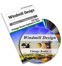 Vintage Windmill Design Book How To Build Engineering History Construction 224