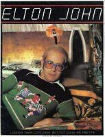 ELTON JOHN 1976 LOUDER THAN CONCORDE U.S. TOUR CONCERT PROGRAM BOOK-NMT TO MINT