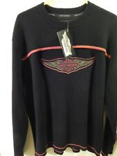 Harley-Davidson Motorcycles [Knit Sweater w/ Faux Suede] Size: XL ~ NEW_NWT Ltd