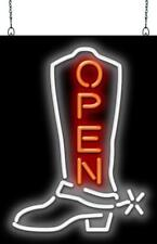 Cowboy Boot Open Neon Sign Jantec 3 Sizes Western Wear Country Bar