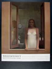 2007 William Bailey l'attesa painting NYC exhibition vintage print Ad
