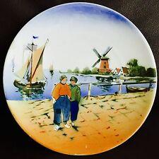"Lovely Vinntage Hand Painted & Hand Glazed Dutch Porcelain 9.5""/24cm Wall Plate"