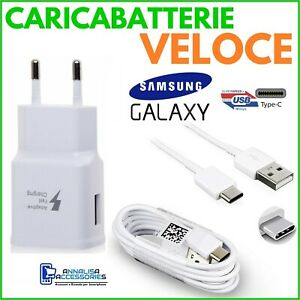 CARICABATTERIE VELOCE FAST CHARGER per SAMSUNG GALAXY A12 PRESA USB CAVO TIPO C