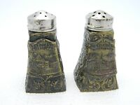 Vintage Metal Travel Souvenir BOSTON, MASS State House Salt & Pepper Shakers