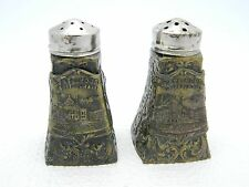 Vintage Metal Travel Souvenir BOSTON, MASS State House Salt & Pepper Shakers