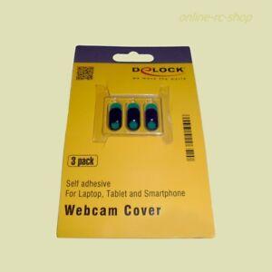 DeLOCK® Webcam Abdeckung für Notebook Tablet Smartphone 3er-Pack auf zu schieben