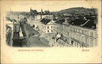 AACHEN um 1900/10 Häuser Gebäude Partie i.d. Theaterstrasse und Lousberg alte AK