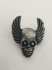 Pin Death Head Scull&Wings Kutte Biker Motorcycles Harley MC Chopper NEU**RAR**