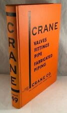 VINTAGE INDUSTRIAL SUPPLY CATALOG CRANE VALES FITTINGS PIPE PIPING BOOK NO. 49