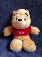 306-Peluche Doudou Winnie l'Ourson The Pooh 22 cm Floppy DISNEY NICOTOY- TBE