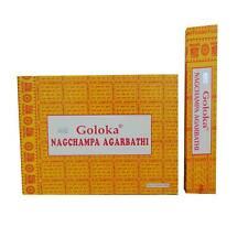 Encens Goloka Nagchampa Agarbathi 12 boîtes Parfum Nag Champa Bâtonnets d'encens