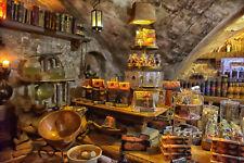 VLIES Fototapete-KAFFE-(1339V)-Mittelalterlich Stein Wand Cafe Wandtapete Deko