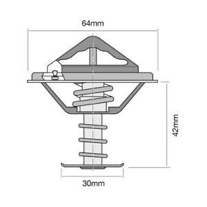 Tridon Thermostat (High Flow) TT332-180 fits Nissan Patrol 2.8 (MQ), 4.0 (G60...