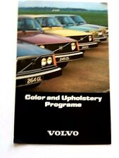 1977 Volvo Color Paint and Upholstery Guide Brochure - 264 245 244 264 265