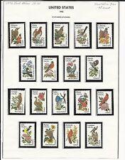 U.S. Sc.#1953A - #2022A State Flowers & Birds MNH Mounted Cat.$32.50 (LR370)