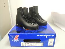 RIEDELL C55 SIZE 2, WIDTH D/C MEN'S BLACK SKATES NEW IN A BOX