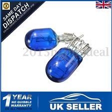 2x W21 5W T20 580 Dual Filament Sidelight 7443 Super White HID Xenon Bulbs 6000k