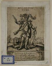 Italiensch, Herrscher mit Löwe, Kupfer, um 1750