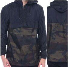 Nwt Truppa Olive Camouflage Army Print Lightweight Windbreaker Anorak Jacket M