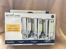 Better Living Soap Dispenser 3 Chamber Shower Dispenser