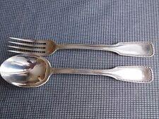 Bergeon Adrien ancien couvert enfant métal argenté fourchette cuillère perles