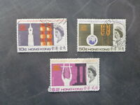 1966 HONG KONG 20th ANNIV. UNESCO SET OF 3 USED STAMPS