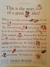 1939 texaco oil sky cheif fire chief helmet gas pump white patrol ad