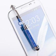 A  Crystal Stylus Dustproof Plug Hanged Adorn Capacitance Pen a