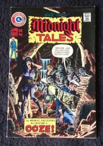 *UK COMIC* MIDNIGHT TALES # 7 (Charlton 1974) Wayne Howard, TOM SUTTON 6£ OOZE!
