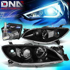 For 2004 2009 Mazda 3 4 Door Projector Headlight Lamp Withled Kitcool Fan Black Fits Mazda 3
