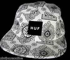 HUF Cap DBC Bruce Volley White HUF Wordwide D.B.C Made IN USA HUF