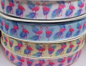 Grosgrain Flamingo Ribbon 25mm width in 2m, 3m or 5m lengths - free post