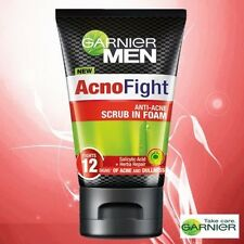 NEW 2015! Garnier 4 Men Acno Fight SCRUB Cleanser Face Wash Anti Acne Treatment