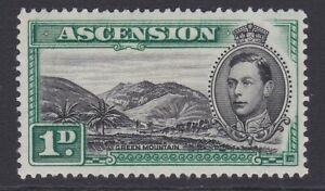 Ascension GVI 1938-1953 1d black & green MINT sg39