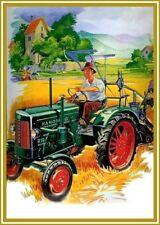 Farb-Plakat: Hanomag R19, Traktor, Trecker Reprint NEU