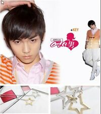 Korean Key SHINEE Style Double Cubic Star Necklace