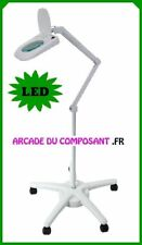LAMPE LOUPE SUR PIED 5 DIOPTRIES AVEC ECLAIRAGE 64 LED (65-0781) Poids 18,4Kg