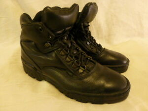 THROROGOOD BLACK LEATHER Casual Hiking Lace Up Work Womens Boots 7.5 M 534-6574