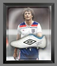 *New* Trevor Francis Signed White Umbro Football Boot In A Acrylic Dome Frame: B