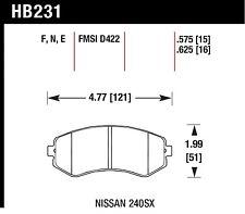 Hawk Performance HB231N.625 Front High Performance Brake Pads