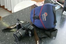 Canon EOS-10 QD 35mm SLR Film Camera Black w/ lens and case