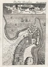 1685 MADAGASCAR FORT DAUPHIN 17th siècle GRAVURE PRINT Mallet