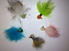 5pcs set - 1/8 oz Crappie/Bass Hair Jigs