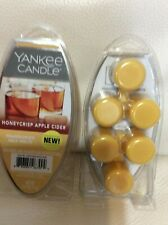 Yankee Candle Honeycrisp Apple Cider Fragranced Wax Melts 2 Pkgs NEW! Yellow